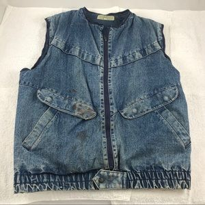 MD French Connection Rustic denim bomber vest